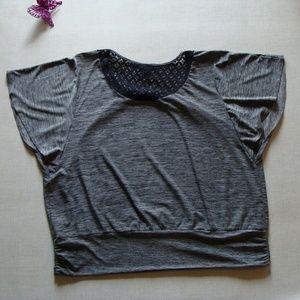 ALYX 3X gray top black crochet back